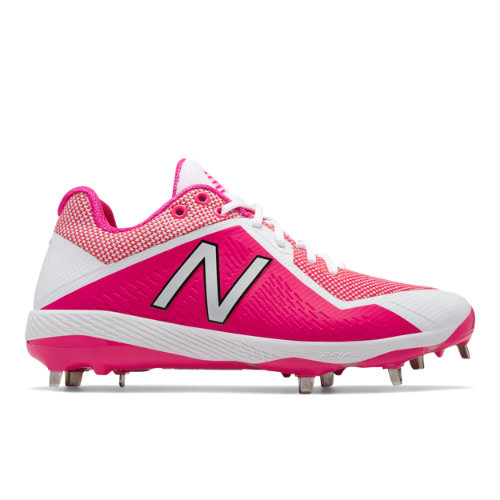 New Balance 4040v4 Mothers Day Men's Low-Cut Cleats Shoes - Pink / White (L4040AP4)