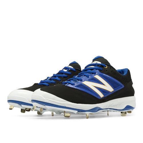 New Balance Low-Cut 4040v3 Metal Cleat Men's Low-Cut Cleats Shoes - Black, Blue (L4040BB3)