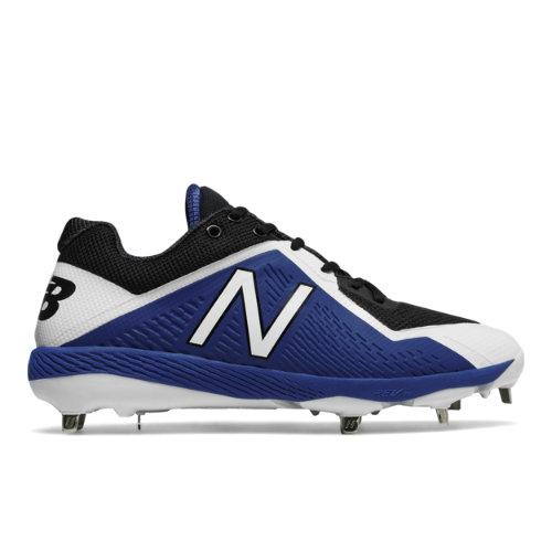 New Balance 4040v4 Men's Low-Cut Cleats Shoes - Black / Blue (L4040BB4)
