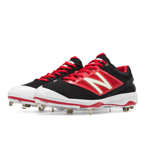 New Balance Low-Cut 4040v3 Metal Cleat Men's Low-Cut Cleats Shoes - Black, Red (L4040BR3)