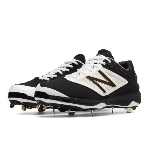 New Balance Low-Cut 4040v3 Metal Cleat Men's Low-Cut Cleats Shoes - Black, White (L4040BW3)