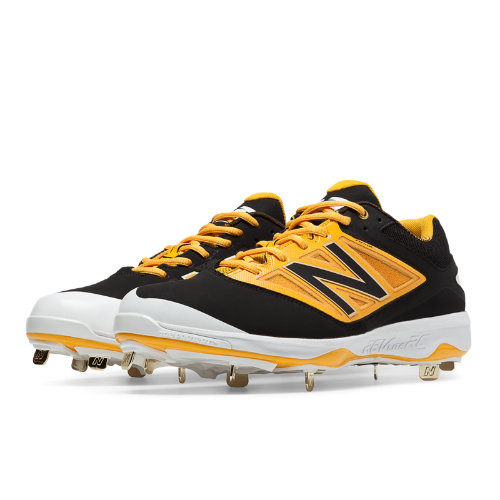 New Balance Low-Cut 4040v3 Metal Cleat Men's Low-Cut Cleats Shoes - Black, Yellow (L4040BY3)