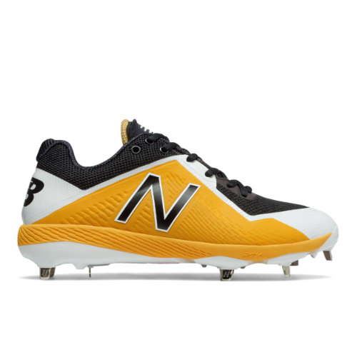 New Balance 4040v4 Men's Low-Cut Metal Cleats Shoes - Black / Yellow (L4040BY4)