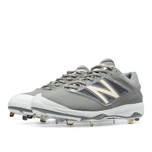 New Balance Low-Cut 4040v3 Metal Cleat Men's Low-Cut Cleats Shoes - Grey, White (L4040GW3)
