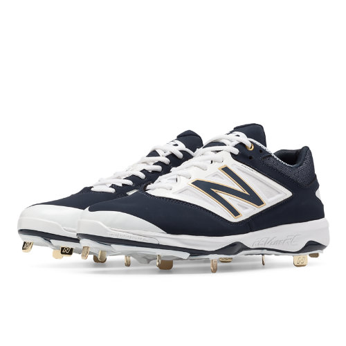 New Balance Low-Cut 4040v3 Metal Cleat Men's Low-Cut Cleats Shoes - Navy, White (L4040NB3)