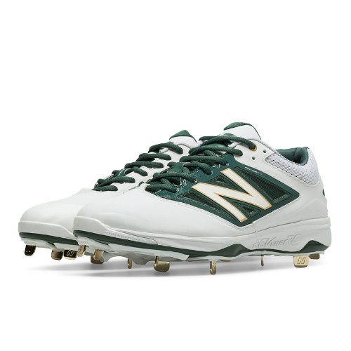 New Balance Low-Cut 4040v3 Metal Cleat Men's Low-Cut Cleats Shoes - White, Green (L4040OA3)