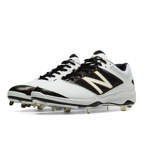 New Balance Low-Cut 4040v3 Metal Cleat Men's Low-Cut Cleats Shoes - White, Black (L4040WT3)