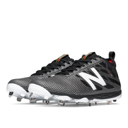 New Balance Low-Cut 406 Metal Cleat Men's Low-Cut Cleats Shoes - Black / Silver (L406BG1)