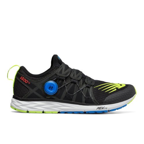 New Balance 1500v4 Men's Racing Flats Shoes - Black / Hi-Lite / Blue (M1500BB4)