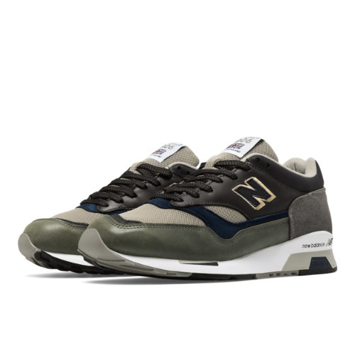 New Balance 1500 Made in UK Surplus Men's Shoes - Olive Green / Tan (M1500SP)