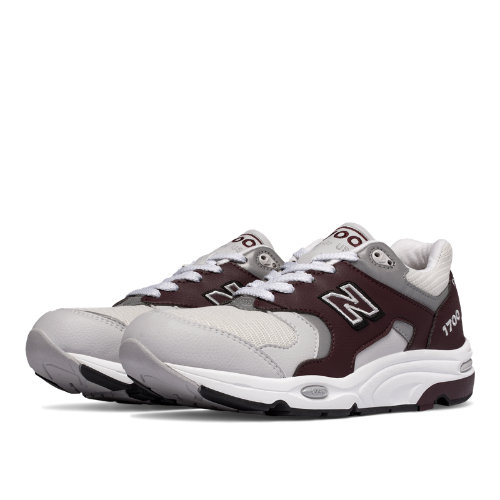 New Balance 1700 Age of Exploration Men's Made in USA Shoes - Light Grey / Burgundy (M1700CHT)