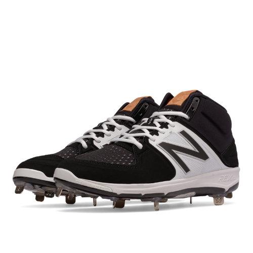 New Balance Mid-Cut 3000v3 Metal Cleat Men's Shoes - Black / White (M3000BK3)