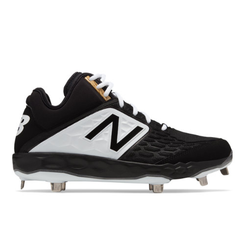 New Balance Mid-Cut 3000v4 Metal Men's Mid-Cut Cleats Shoes - Black / White (M3000BK4)