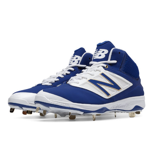 New Balance Mid-Cut 4040v3 Metal Cleat Men's Mid-Cut Cleats Shoes - Royal Blue, White (M4040AB3)
