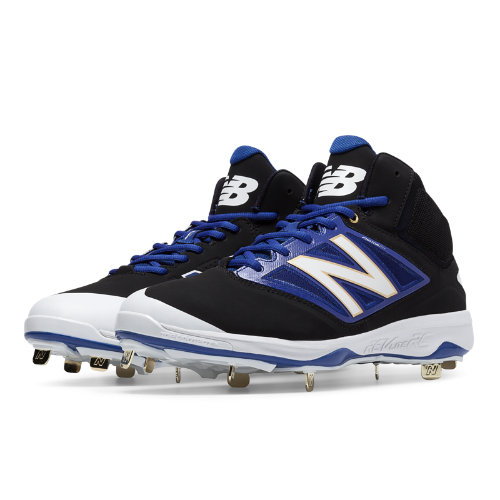 New Balance Mid-Cut 4040v3 Metal Cleat Men's Mid-Cut Cleats Shoes - Black, Blue (M4040BB3)