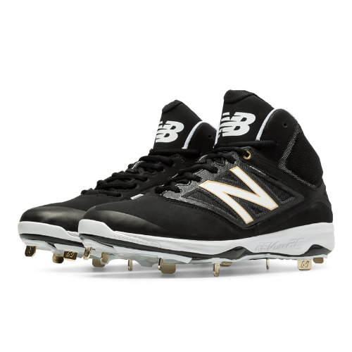 New Balance Mid-Cut 4040v3 Metal Cleat Men's Mid-Cut Cleats Shoes - Black (M4040BK3)