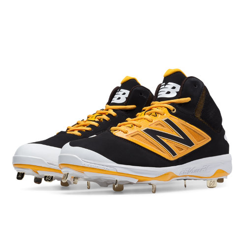 New Balance Mid-Cut 4040v3 Metal Cleat Men's Mid-Cut Cleats Shoes - Black, Yellow (M4040BY3)