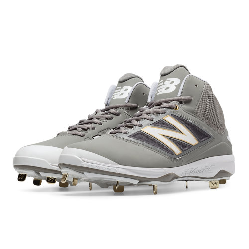 New Balance Mid-Cut 4040v3 Metal Cleat Men's Mid-Cut Cleats Shoes - Grey (M4040GW3)
