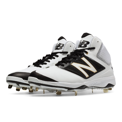 New Balance Mid-Cut 4040v3 Metal Cleat Men's Mid-Cut Cleats Shoes - White, Black (M4040WT3)