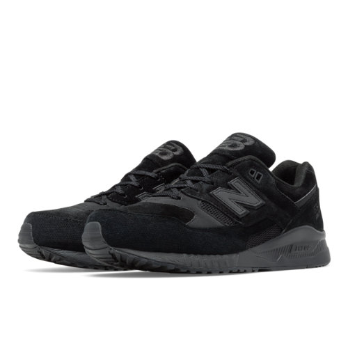 New Balance 530 Perforated Men's Running Classics Shoes - Black (M530AK)