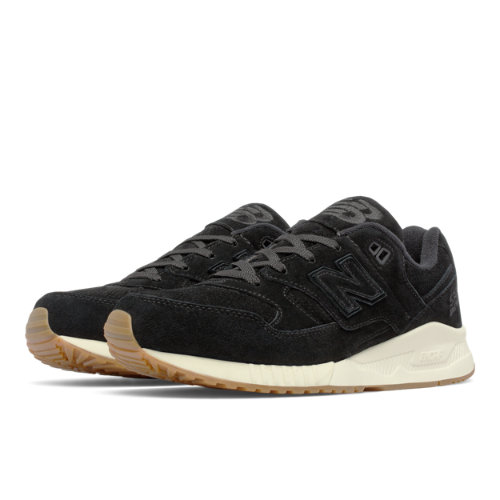 New Balance 530 Lux Suede Men's Running Classics Shoes - Black (M530PRA)