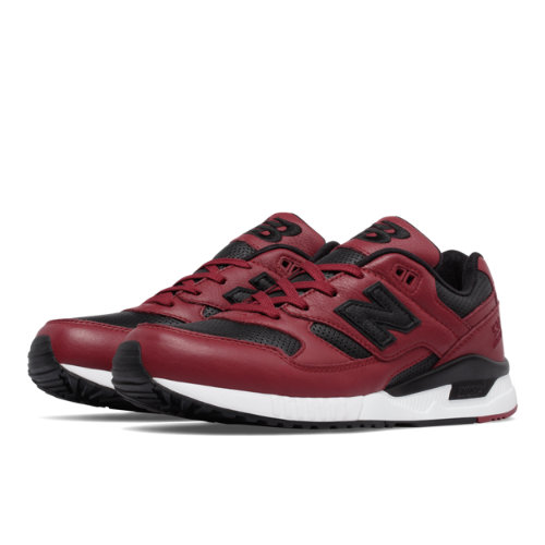 New Balance 530 Lux Leather Men's Running Classics Shoes - Red / Black (M530VTB)