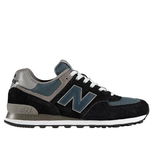 New Balance 574 Men's Shoes - Navy, Teal, Grey (M574JN)