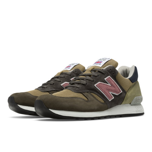 New Balance 670 Made in UK Surplus Men's Shoes - Grey / Tan / Green (M670SP)