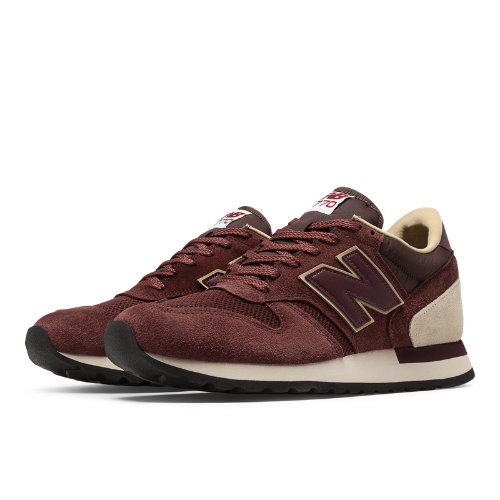 New Balance 770 Made in UK Suede Men's Shoes - Red / Tan (M770RBB)
