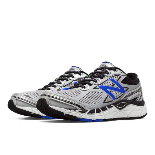 New Balance 840v3 Men's Running Recommender Styles Shoes - Silver, Blue, Black (M840SB3)