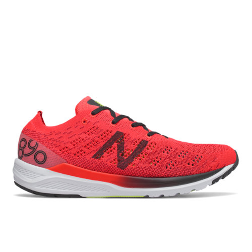 New Balance 890v7 Men's Neutral Cushioned Running Shoes - Red (M890RB7)