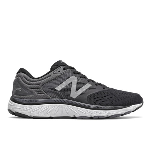 New Balance 940v4 Men's Stability Running Shoes - Black / Grey (M940KG4)