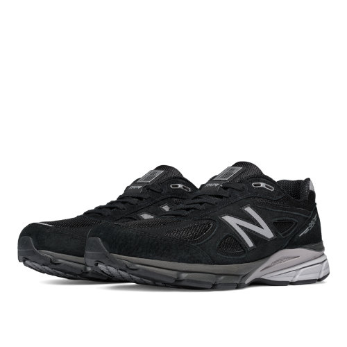 New Balance 990v4 Men's Made in USA Shoes - Black / Silver (M990BK4)