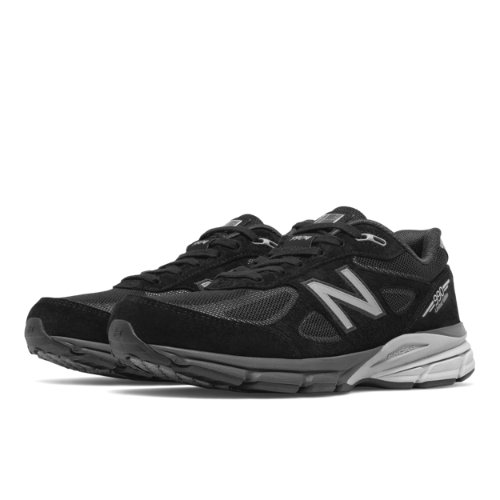 New Balance Reflective 990v4 Men's Everyday Running Shoes - Black (M990BLE4)