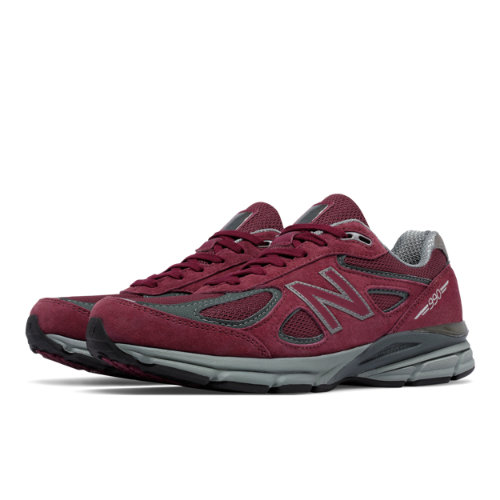 New Balance 990v4 Men's Everyday Running Shoes - Burgundy (M990BU4)