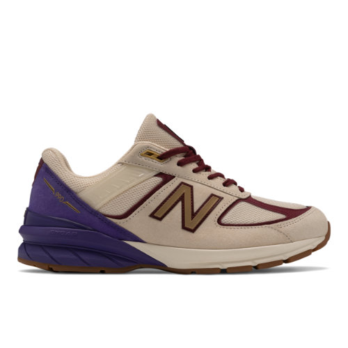 New Balance 990v5 Made in USA Men's Lifestyle Shoes - Off White / Purple (M990CP5)