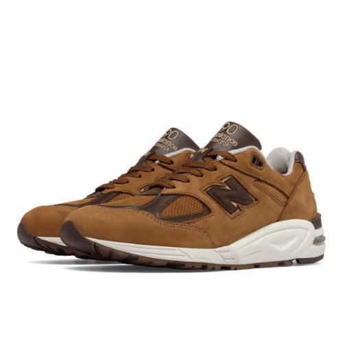 New Balance 990v2 Men's Made in USA Shoes - Brown / White (M990DVN2)