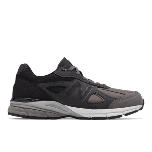 New Balance 990v4 Made in USA Men's Shoes - Grey / Black (M990FEG4)