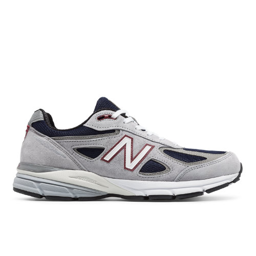 New Balance 990v4 Made in USA Men's Shoes - Grey / Navy (M990GN4)
