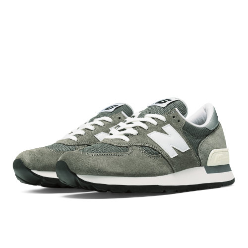 New Balance 990 Bringback Men's Made in USA Shoes - Grey, White (M990GRY)