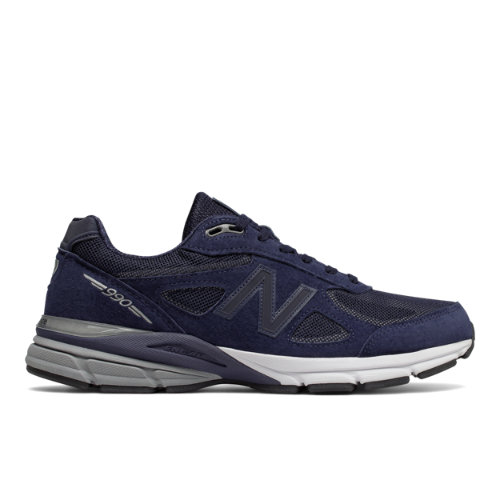 New Balance Reflective 990v4 Made in USA Men's Shoes - Navy / White (M990NLE4)
