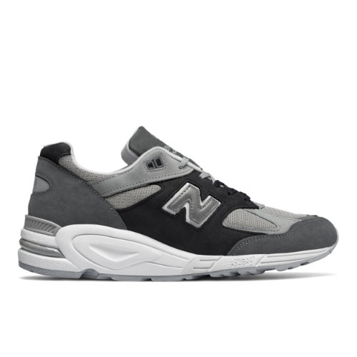 New Balance 990v2 Made in US Men's Made in USA Shoes - Silver / Black (M990XG2)