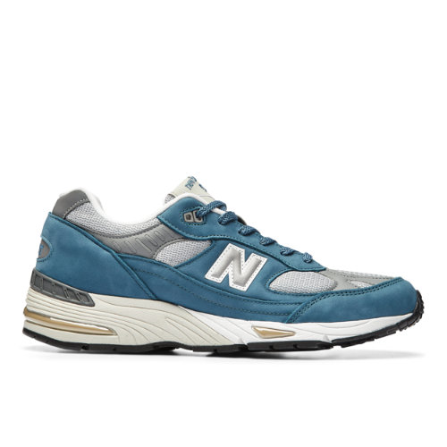 New Balance MADE IN UK 991 Men's Lifestyle Shoes - Grey / Blue (M991BSG)