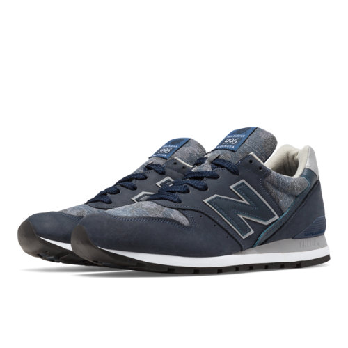 New Balance 996 Age of Exploration Men's Made in USA Shoes - Navy / Pigment (M996DPLS)