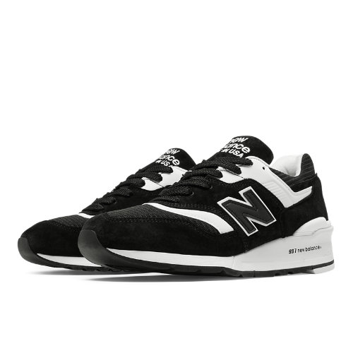 New Balance 997 Made in USA Men's Shoes - Black / White (M997BBK)