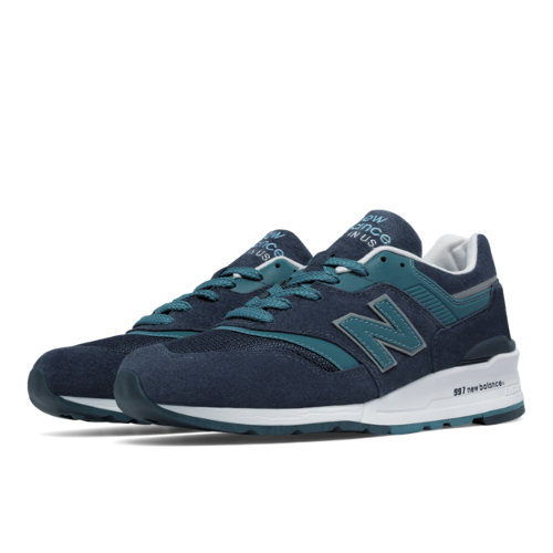 New Balance 997 Men's Made in USA Shoes - Navy / Blue (M997CEF)