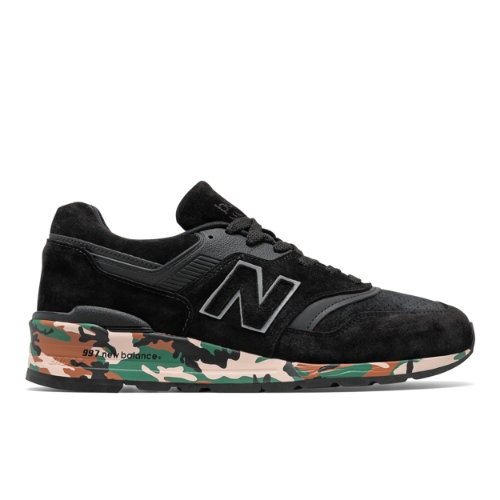 New Balance 997 Made in USA Men's Shoes - Black / Camo (M997CMO)