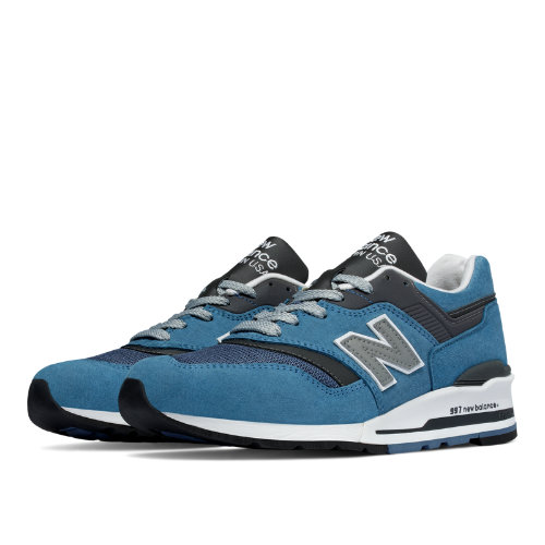 New Balance 997 Age of Exploration Men's Made in USA Shoes - Blue Jay / Grey (M997CSP)