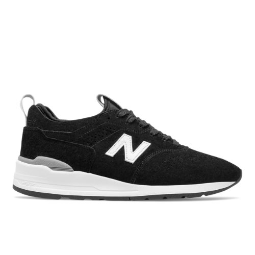 New Balance 997R Made in USA Men's Shoes - Black / White (M997DBW2)