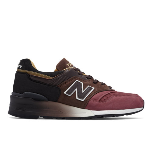 New Balance 997 Made in USA Baseball Men's Sneakers Shoes - Black / Brown / Red (M997DWB)